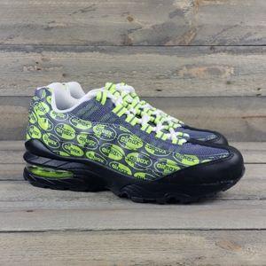 New Nike Air Max 95 SE (GS) Youth Black/Volt